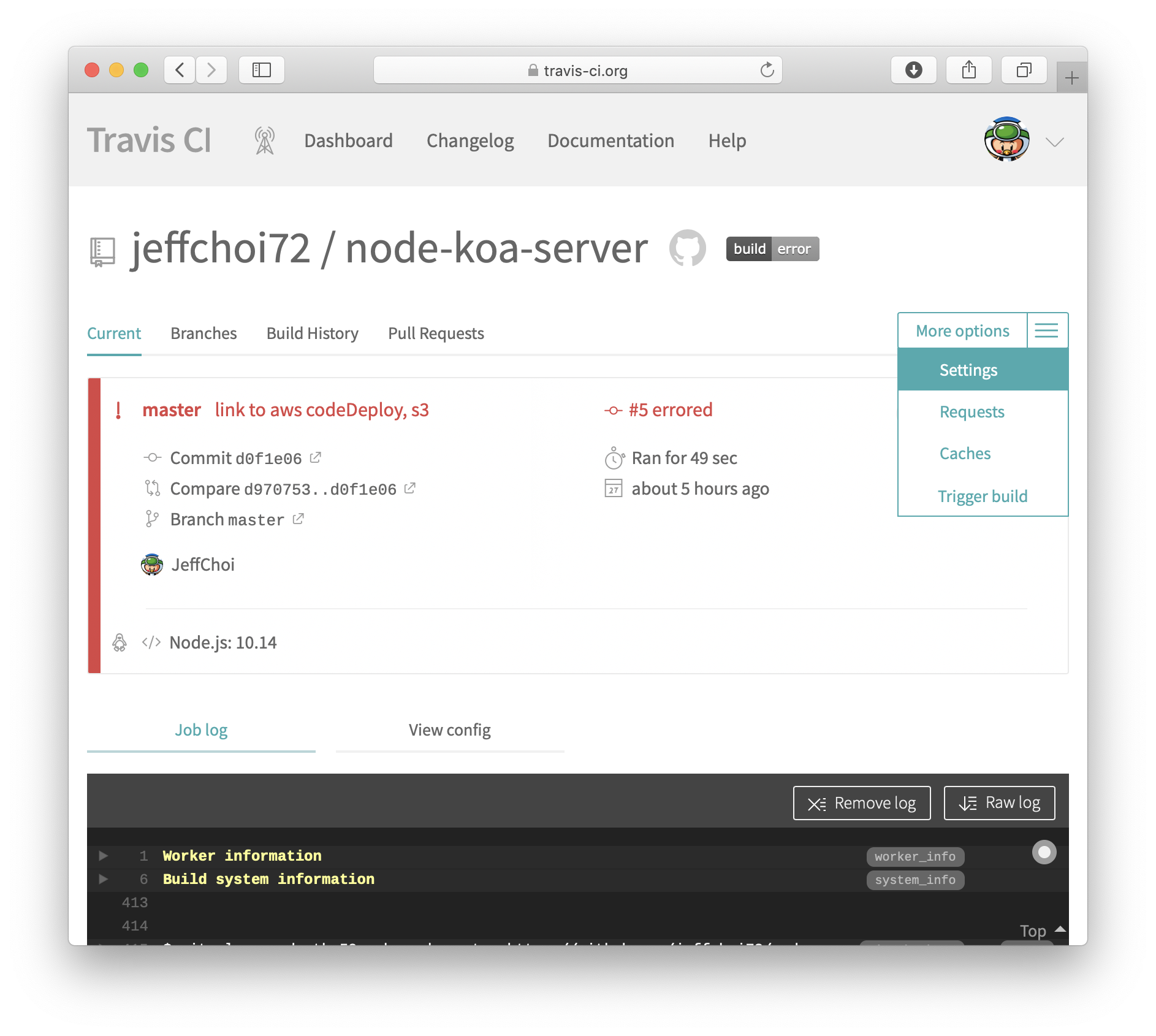 Travis CI, AWS CodeDeploy, Docker 로 배포 자동화 및 무중단 배포 환경