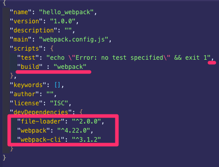 package_json_—_hello_webpack.png